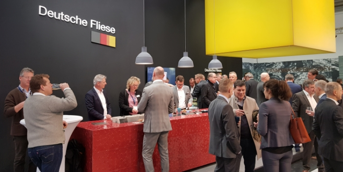 collaborative stand - Steuler tile group at stand of federation of ceramic tiles